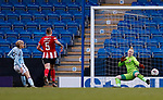 Emma Follis of Aston Villa scores a goal to make it 1-0 during the The FA Women's Championship match at the Proact Stadium, Chesterfield. Picture date: 12th January 2020. Picture credit should read: James Wilson/Sportimage