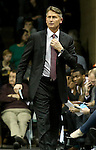 SIOUX FALLS, SD - NOVEMBER 22: Head coach Phil Weber from the Sioux Falls Skyforce watches the game against the Iowa Energy in the first quarter of their game Saturday night at the Sanford Pentagon. (Photo by Dave Eggen/Inertia)