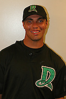 Dayton Dragons Jose Rojas poses for a photo before a Midwest League game at Fifth Third Field on July 18, 2006 in Dayton, Ohio.  (Mike Janes/Four Seam Images)