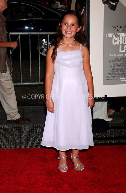WWW.ACEPIXS.COM . . . . .....July 18, 2007. New York City,....Actress Shelby Adamowsky arrives at the 'I Now Pronounce You Chuck and Larry' premiere held at Ziegfeld Theater in New York City...  ....Please byline: Kristin Callahan - ACEPIXS.COM..... *** ***..Ace Pictures, Inc:  ..Philip Vaughan (646) 769 0430..e-mail: info@acepixs.com..web: http://www.acepixs.com