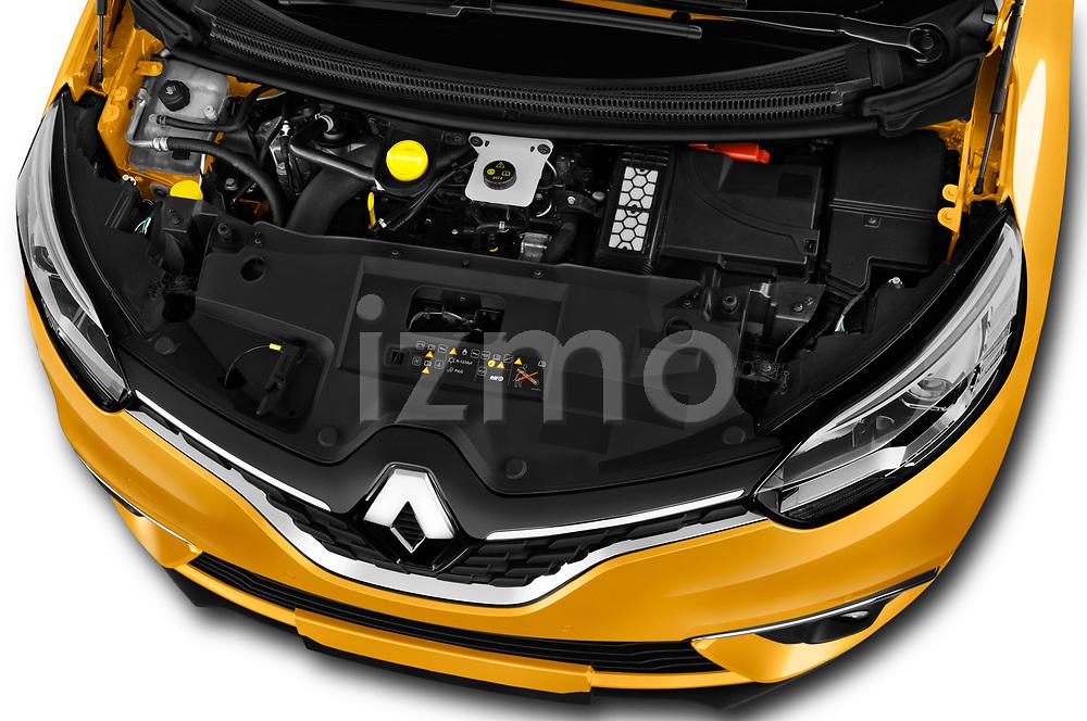 Car Stock 2017 Renault Scenic Intens 5 Door Minivan Engine  high angle detail view