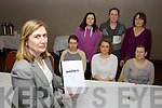 Louise O'Donnell Impact with home care helpers l-r: Juliet Moynihan, Denise O'Connell, Bridget O'Connor. Back row: Mairead Foley, Margaret O'Sullivan, Marie Levis (Impact) who are protesting their low payment and help and information meeting in the Killarney Court Hotel on Monday. ***GER*** (You might check with sinead about caption I couldn't really make out what she was protesting about)