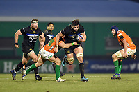 Elliott Stooke of Bath Rugby takes on the Benetton Rugby defence. European Rugby Champions Cup match, between Benetton Rugby and Bath Rugby on January 20, 2018 at the Municipal Stadium of Monigo in Treviso, Italy. Photo by: Patrick Khachfe / Onside Images
