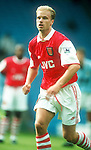Denis Bergkamp of Arsenal - Premier League - Manchester City v Arsenal  - Maine Road Stadium - Manchester - England - 10th September 1995 - Picture Sportimage