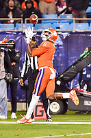 Charlotte, NC - DEC 2, 2017: Clemson Tigers wide receiver Deon Cain (8) catches a touchdown late in the 4th quarter  during ACC Championship game between Miami and Clemson at Bank of America Stadium Charlotte, North Carolina. (Photo by Phil Peters/Media Images International)