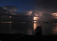 Lightning Storm over Lake Oneida, New York.