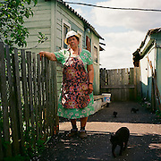 Nina Ivanovna is a retired nurse. She worked in Izborsk's only hospital for 55 years. It was closed down years ago, and the building  converted into a hotel. Presently there is no hospital in Izborsk.
