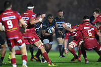 Semesa Rokoduguni of Bath Rugby in possession. European Rugby Champions Cup match, between the Scarlets and Bath Rugby on October 20, 2017 at Parc y Scarlets in Llanelli, Wales. Photo by: Patrick Khachfe / Onside Images