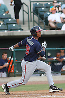 Rome Braves catcher Christian Bethancourt #19 at bat during a game vs. the Charleston Riverdogs at Joseph P. Riley Jr. Ballpark in Charleston, South Carolina on June 6, 2010.   Charleston defeated Rome by the score of 4-2.  Photo By Robert Gurganus/Four Seam Images