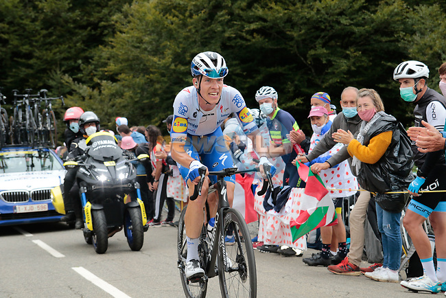 Bob Jungels (LUX) Deceuninck-Quick Step climbs Col de Marie Blanque during Stage 9 of Tour de France 2020, running 153km from Pau to Laruns, France. 6th September 2020. <br /> Picture: Colin Flockton | Cyclefile<br /> All photos usage must carry mandatory copyright credit (© Cyclefile | Colin Flockton)