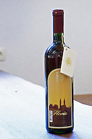 Bottle of Medugorska Floria 1998 dessert sweet wine. Podrum Vinoteka Sivric winery, Citluk, near Mostar. Federation Bosne i Hercegovine. Bosnia Herzegovina, Europe.