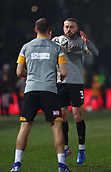 5th February 2019, Rodney Parade, Newport, Wales; FA Cup football, 4th round replay, Newport County versus Middlesbrough; Dan Butler of Newport County controls the ball during warm up