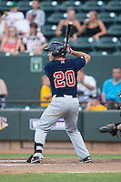 Kevin Heller (20) of the Salem Red Sox at bat against the Winston-Salem Dash at BB&T Ballpark on June 18, 2015 in Winston-Salem, North Carolina.  The Red Sox defeated the Dash 8-2.  (Brian Westerholt/Four Seam Images)