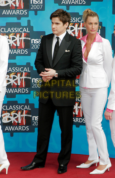 GARDAR THOR CORTES  .The Classical Brit Awards 2007, Royal Albert Hall, London, England. .May 3rd, 2007.full length black suit white.CAP/AH.©Adam Houghton/Capital Pictures