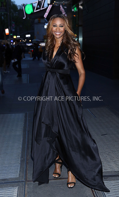 WWW.ACEPIXS.COM<br /> <br /> April 21 2014, New York City<br /> <br /> Cynthia Bailey arriving at the New Yorkers For Children's 11th Anniversary A Fool's Fete Spring Dance at the Mandarin Oriental Hotel on April 21, 2014 in New York City. <br /> <br /> <br /> By Line: AO Images/ACE Pictures<br /> <br /> <br /> ACE Pictures, Inc.<br /> tel: 646 769 0430<br /> Email: info@acepixs.com<br /> www.acepixs.com