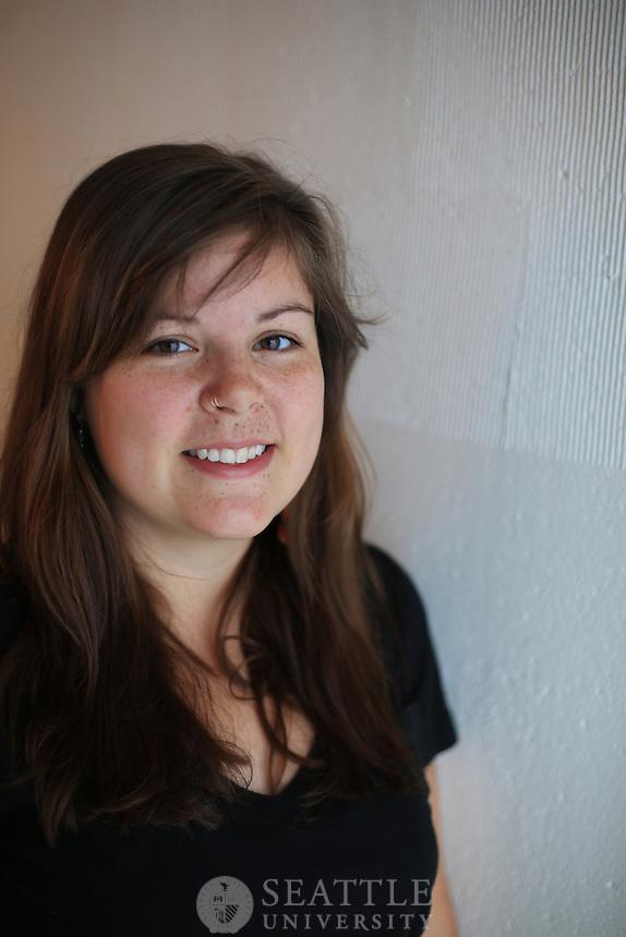 09252012- Francesca Murnan, Seattle University's CSCE Spirit of Community Award winner. ..