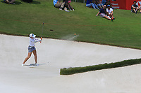 Chella Choi (KOR) in action on the 18th during Round 3 of the HSBC Womens Champions 2018 at Sentosa Golf Club on the Saturday 3rd March 2018.<br /> Picture:  Thos Caffrey / www.golffile.ie<br /> <br /> All photo usage must carry mandatory copyright credit (&copy; Golffile | Thos Caffrey)