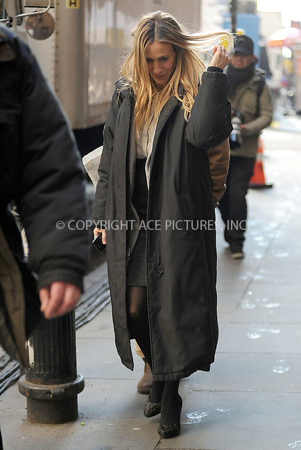 WWW.ACEPIXS.COM . . . . . .February 7, 2011...New York City...Sarah Jessica Parker on the set of I Don't Know How She Does It  on February 7, 2011 in New York City....Please byline: KRISTIN CALLAHAN - ACEPIXS.COM.. . . . . . ..Ace Pictures, Inc: ..tel: (212) 243 8787 or (646) 769 0430..e-mail: info@acepixs.com..web: http://www.acepixs.com .