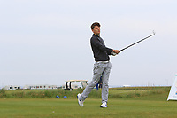 William Dodds (ENG) on the 1st tee during Round 1of the Flogas Irish Amateur Open Championship 2019 at the Co.Sligo Golf Club, Rosses Point, Sligo, Ireland. 16/05/19<br /> <br /> Picture: Thos Caffrey / Golffile<br /> <br /> All photos usage must carry mandatory copyright credit (© Golffile | Thos Caffrey)