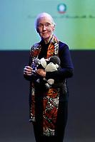 Jane Goodall <br /> Roma 11/05/2017. Lectio Magistralis dell'etologa Jane Goodall, ospite al National Geographic Festival delle Scienze<br /> Rome 11th May 2017. Lectio Magistralis of the ethologist Jane Goodall, guest at the National Geographic Science Festival 2017.<br /> Foto Samantha Zucchi Insidefoto