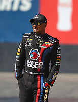 Feb 23, 2018; Chandler, AZ, USA; NHRA top fuel driver Antron Brown during qualifying for the Arizona Nationals at Wild Horse Pass Motorsports Park. Mandatory Credit: Mark J. Rebilas-USA TODAY Sports