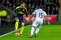 Gabriel Paulista of Arsenal in action during the English Premier League game between Arsenal and Swansea at the Liberty Stadium in Swansea ,Wales, UK. Saturday 14 January 2017