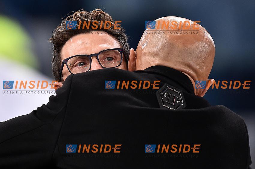 Eusebio Di Francesco, Luciano Spalletti <br /> Roma 19-03-2017 Stadio Olimpico Football Calcio Serie A 2016/2017 AS Roma - Sassuolo Foto Andrea Staccioli / Insidefoto