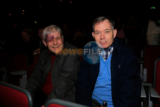 Jimmy McGahon and Gerard Rudd at the  Peter Pan Panto int eh TLT.<br /> Picture: Fran Caffrey www.newsfile.ie