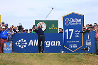 Grant Forrest (SCO) tees off the 17th tee during Sunday's Final Round of the Dubai Duty Free Irish Open 2019, held at Lahinch Golf Club, Lahinch, Ireland. 7th July 2019.<br /> Picture: Eoin Clarke | Golffile<br /> <br /> <br /> All photos usage must carry mandatory copyright credit (© Golffile | Eoin Clarke)