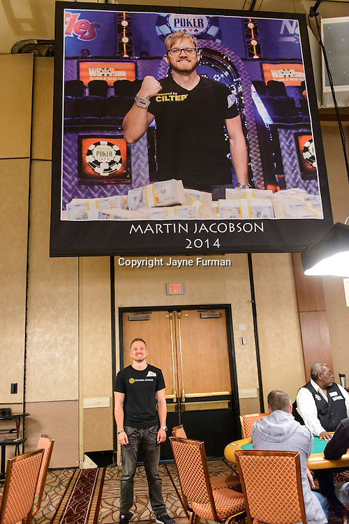 Martin Jacobson 2014 WSOP Banner Unveiling