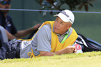 Bernd Wiesberger (AUT) caddy Shane waits at the 14th tee during Thursday's Round 1 of the 2017 PGA Championship held at Quail Hollow Golf Club, Charlotte, North Carolina, USA. 10th August 2017.<br /> Picture: Eoin Clarke | Golffile<br /> <br /> <br /> All photos usage must carry mandatory copyright credit (&copy; Golffile | Eoin Clarke)