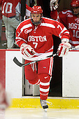 Max Nicastro (BU - 7) - The Boston University Terriers defeated the Harvard University Crimson 6-5 in overtime on Tuesday, November 24, 2009, at Bright Hockey Center in Cambridge, Massachusetts.
