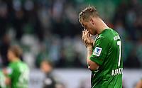 FUSSBALL   1. BUNDESLIGA   SAISON 2012/2013    30. SPIELTAG SV Werder Bremen - VfL Wolfsburg                          20.04.2013 Marko Arnautovic (SV Werder Bremen) ist nach dem Abpfiff enttaeuscht