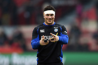 Francois Louw of Bath Rugby. Heineken Champions Cup match, between Stade Toulousain and Bath Rugby on January 20, 2019 at the Stade Ernest Wallon in Toulouse, France. Photo by: Patrick Khachfe / Onside Images