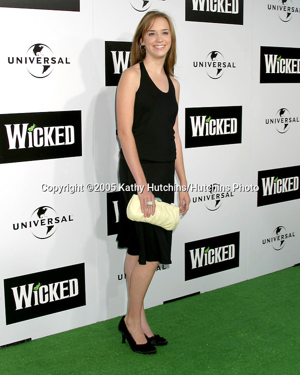 "Andrea Bowen.""Wicked"" Play Opening.Pantages Theater.Los Angeles, CA.June 22, 2005.©2005 Kathy Hutchins / Hutchins Photo"