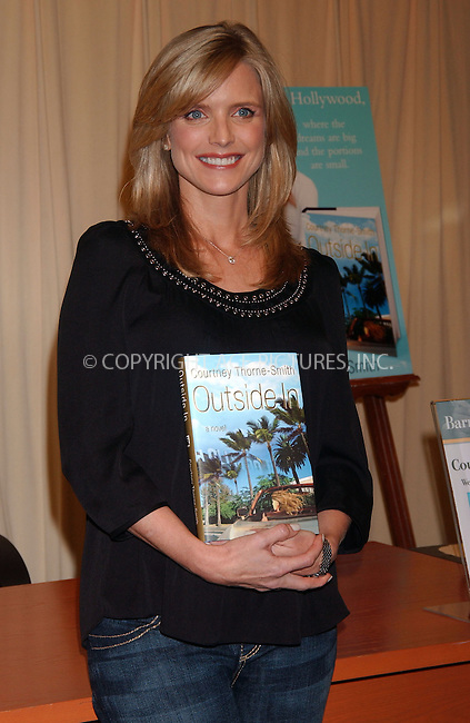 WWW.ACEPIXS.COM . . . . . ....September 19 2007, New York City....Actress Courtney Thorne-Smith signs copies of her first novel 'Outside In' at Barnes & Noble in midtown Manhattan....Please byline: KRISTIN CALLAHAN - ACEPIXS.COM.. . . . . . ..Ace Pictures, Inc:  ..(646) 769 0430..e-mail: info@acepixs.com..web: http://www.acepixs.com