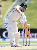 23rd November 2019; Mt Maunganui, New Zealand;  Henry Nicholls batting during play on Day 3, 1st Test match between New Zealand versus England. International Cricket at Bay Oval, Mt Maunganui, New Zealand.  - Editorial Use