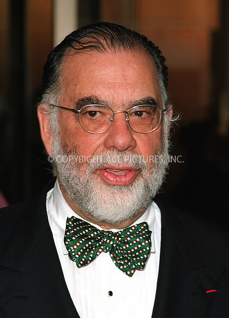 Director Francis Ford Coppola attending a Gala Tribute to Francis Ford Coppola organized by The Film Society of Lincoln Center. Avery Fisher Hall in New York, May 7, 2002. Please byline: Alecsey Boldeskul/NY Photo Press.   ..*PAY-PER-USE*      ....NY Photo Press:  ..phone (646) 267-6913;   ..e-mail: info@nyphotopress.com