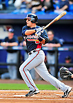 2 March 2010: Atlanta Braves second baseman Martin Prado in action against the New York Mets during the Opening Day of Grapefruit League play at Tradition Field in Port St. Lucie, Florida. The Mets defeated the Braves 4-2 in Spring Training action. Mandatory Credit: Ed Wolfstein Photo