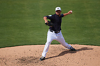 Detroit Tigers relief pitcher Blaine Hardy (36) delivers a pitch during a Grapefruit League Spring Training game against the Atlanta Braves on March 2, 2019 at Publix Field at Joker Marchant Stadium in Lakeland, Florida.  Tigers defeated the Braves 7-4.  (Mike Janes/Four Seam Images)