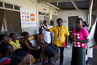 UNFPA South Sudan supports human capacity building in the health sector. UNV working at Muniki health centre in the maternity unit. She implements classes for pregnant women and assists them during their pregnancy.