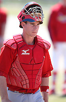 March 19, 2010:  Catcher Bryan Anderson of the St. Louis Cardinals organization during Spring Training at the Roger Dean Stadium Complex in Jupiter, FL.  Photo By Mike Janes/Four Seam Images