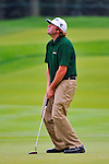 29 August 2009: Steve Marino reacts to a putt during the third round of The Barclays PGA Playoffs at Liberty National Golf Course in Jersey City, New Jersey.