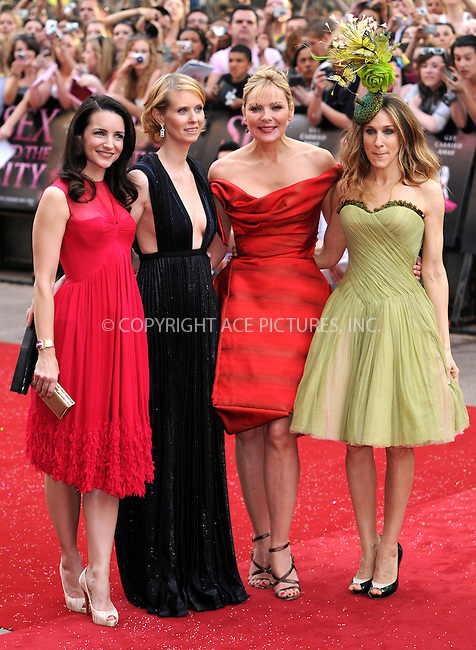 Kristin Davis, Cynthia Nixon, Kim Cattrall and Sarah Jessica Parker at the World premiere of 'Sex And The City' at the Odeon Leicester Square in London - 12 May 2008..FAMOUS PICTURES AND FEATURES AGENCY 13 HARWOOD ROAD LONDON SW6 4QP UNITED KINGDOM tel +44 (0) 20 7731 9333 fax +44 (0) 20 7731 9330 e-mail info@famous.uk.com www.famous.uk.com.FAM22991