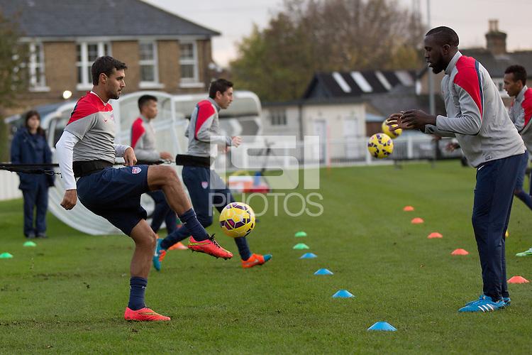 London, UK. - Monday, November 10, 2014: U.S. Men's National Team Training at Motspur Park in Fulham.