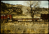 #6757 flat car in Gato.<br /> D&amp;RGW  Gato (Pagosa Junction), CO