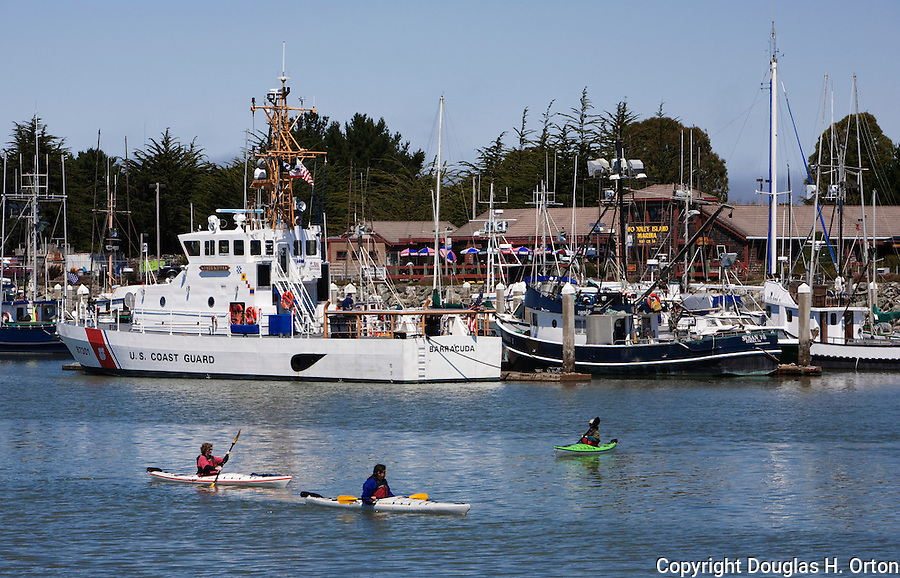 The harbor and boardwalk are major attractions of friendly Eureka, California.