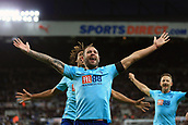 4th November 2017, St James Park, Newcastle upon Tyne, England; EPL Premier League football, Newcastle United Bournemouth; Steve Cook of AFC Bournemouth celebrates his winner in injury time