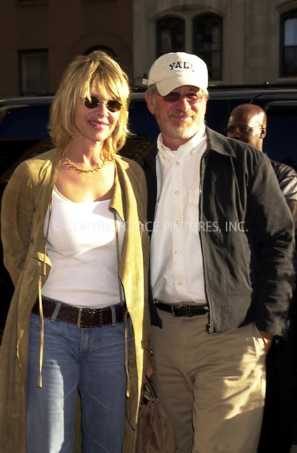 "Kate Capshaw and Steven Spielberg at the premiere of ""The Chateau"". New York. August 6, 2002. Please byline: ARTHUR J./ACEPIXS.COM   .. *** ***  ..Ace Pictures, Inc:  ..contact: Alecsey Boldeskul (646) 267-6913 ..Philip Vaughan (646) 769-0430..e-mail: info@acepixs.com"