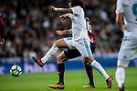 Marcelo Vieira Da Silva of Real Madrid fights for the ball with Cristian Rivera Hernandez of SD Eibar during the La Liga 2017-18 match between Real Madrid and SD Eibar at Estadio Santiago Bernabeu on 22 October 2017 in Madrid, Spain. Photo by Diego Gonzalez / Power Sport Images